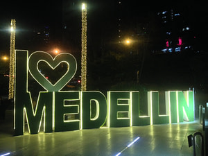 Photo of I heart Medellin sign
