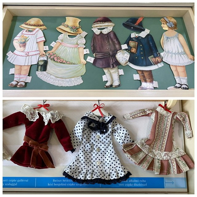 Paper dolls and doll dresses