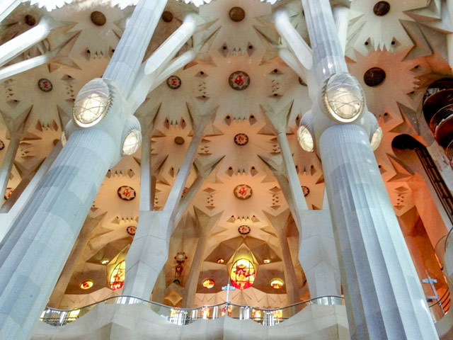 Ceiling detail in La Sagrada Familia