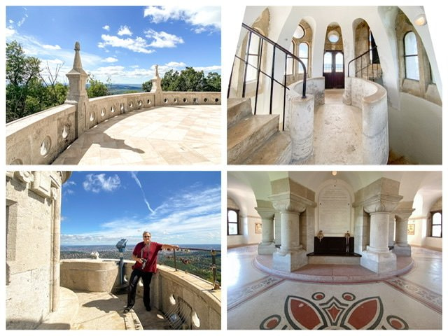 Four photos of the Elizabeth Lookout Tower in Budapest