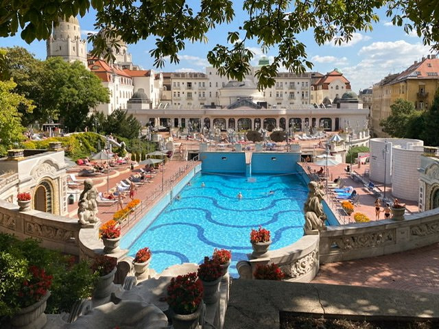 The wave pool at the Gellert Spa in Budapest