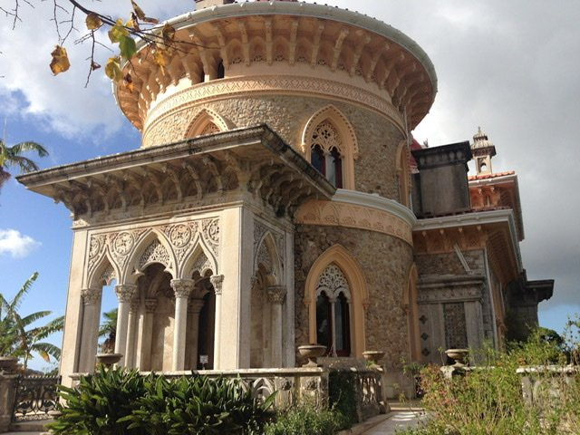 Side view of the Palace of Monserrate