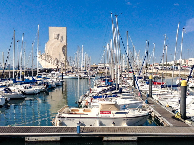 A marina in the Belem area of Lisbon
