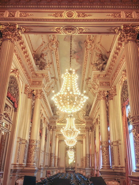 The Golden Room in Teatro Colon