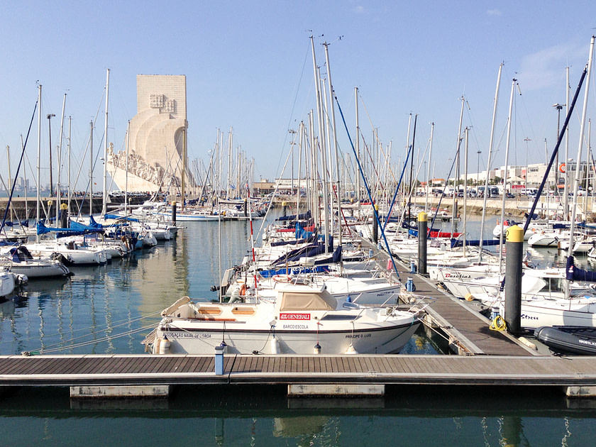 Marina in Belem area of Lisbon