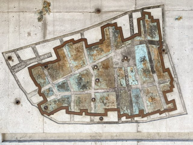 Map of the Jewish Ghetto in Budapest