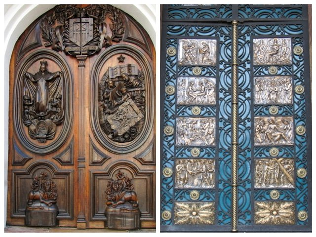 Two ornate church doors