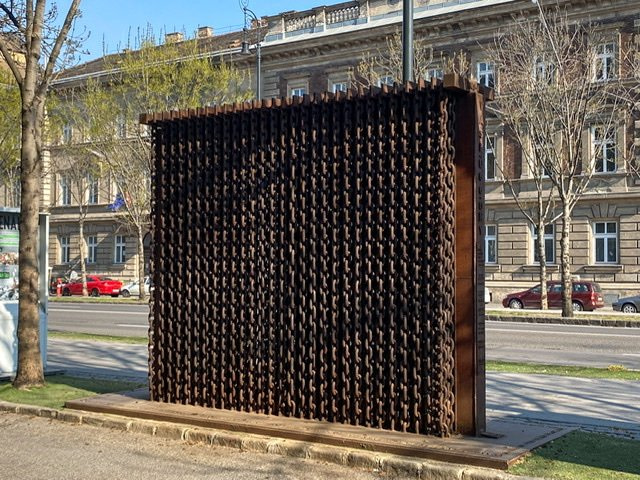 The Iron Curtain Memorial in Budapest