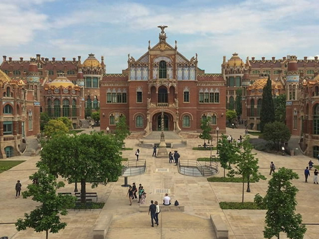 The courtyard at Recinte Modernista de Sant Pau