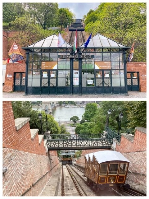 Budapest funicular ticket office and car