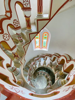 Stairs in a tower in Bory Castle