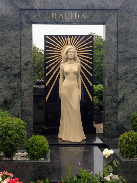 Memorial to the singer Dalida in Cemetery Montmartre