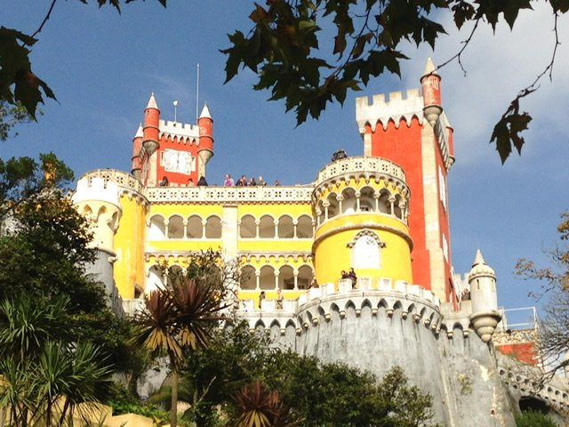 Exterior of Pena Palace from the road below