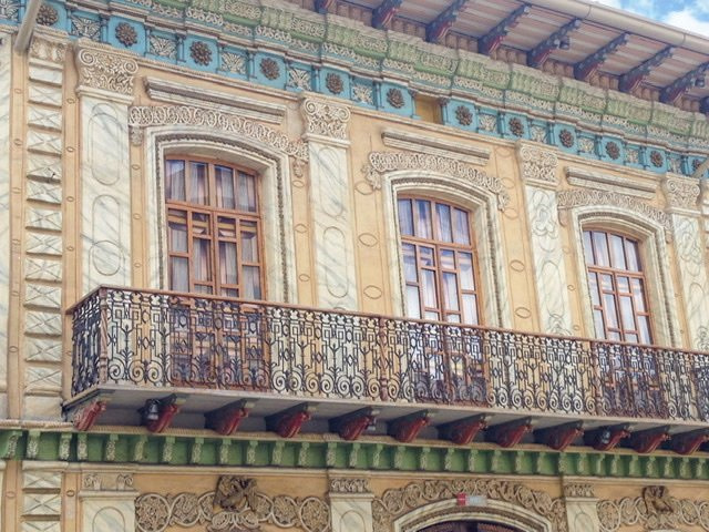 Facade of a builing in Old Town Cuenca