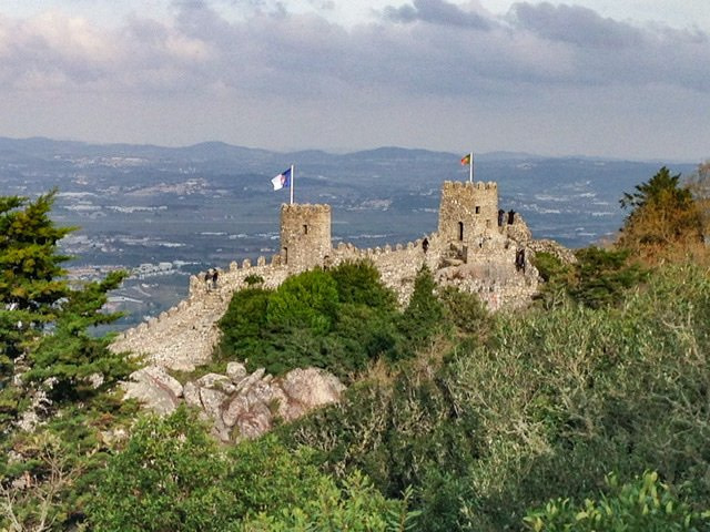 View of the Castle of the Moors from a distance