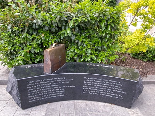 The Raoul Wallenberg Memorial Bench in Budapest