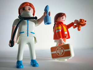 Toy medical professionals