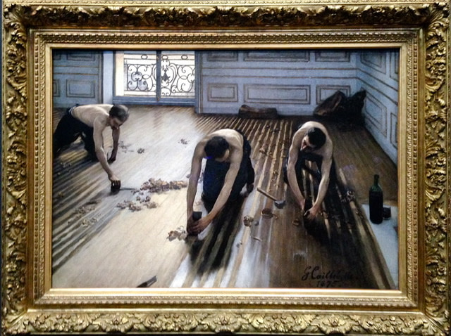 The painting The Floor Scrapers by Gustave Caillebotte