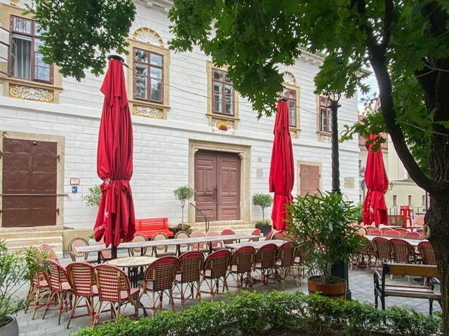 Front of the Red Hedgehog House in Budapest