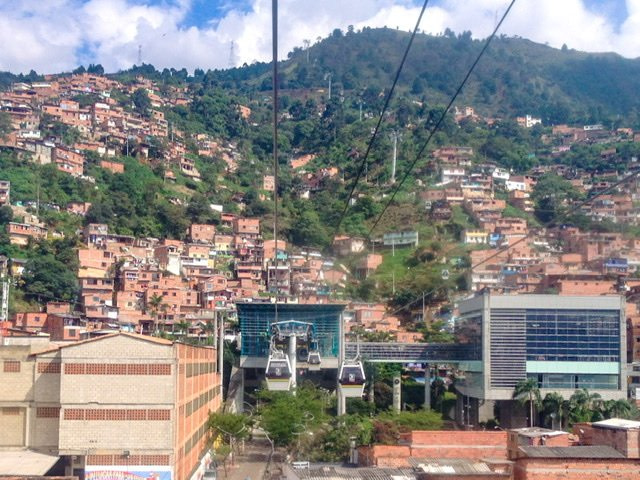 Metro cable cars in Medellin