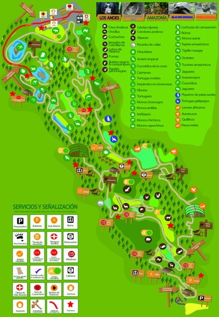 Map of Amaru Bioparque