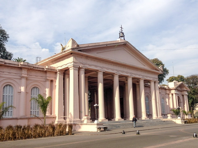 A stately building in Chacarita Cemetery