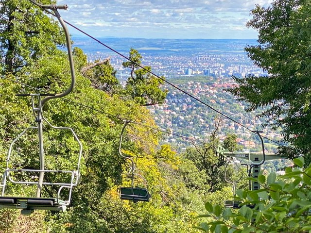 Chairlift in the Buda Hills