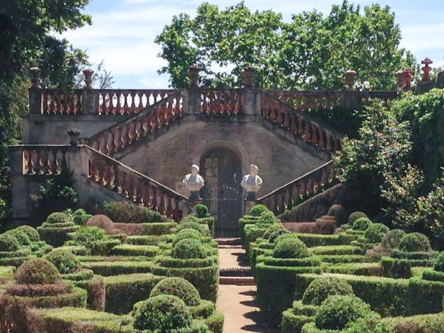 Garden and staircase at Parc del Laberint d'Horta
