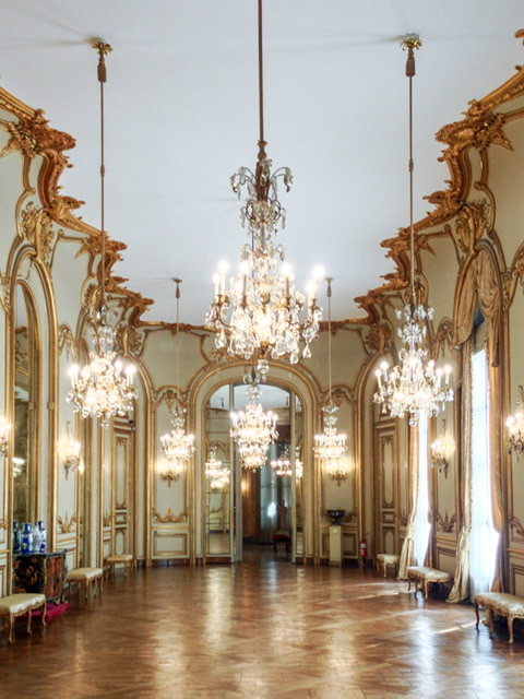 The ballroom in the Museum of Decorative Arts