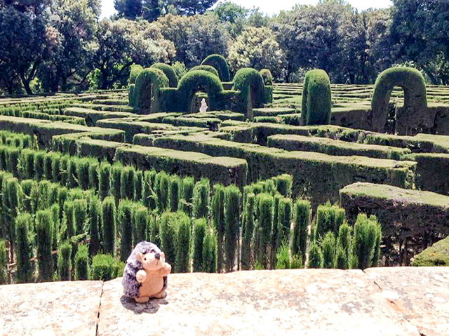 The labyrinth at Parc del Laberint d'Horta