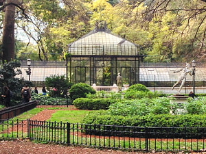 A greenhouse in the Buenos Aires Botanical Garden