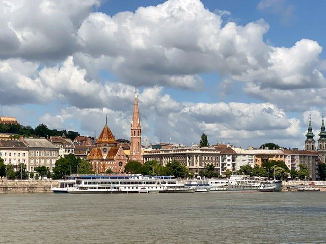 The Danube River and the Buda side of Budapest