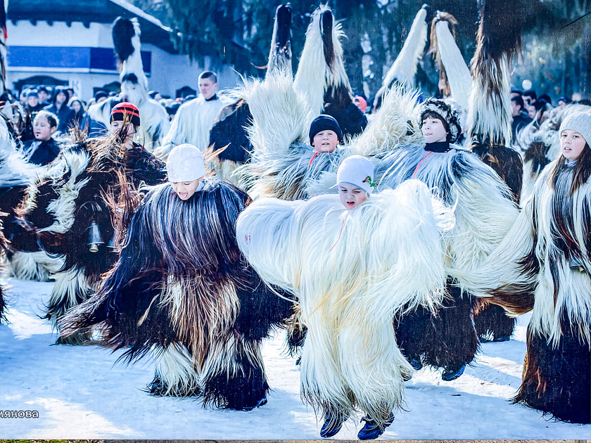 People dancing in furry costumes