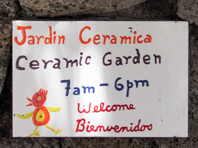 Sign for the Jardin Ceramica