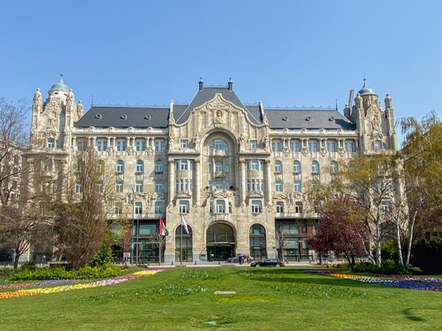 The Four Seasons Hotel Gresham Palace in Budapest