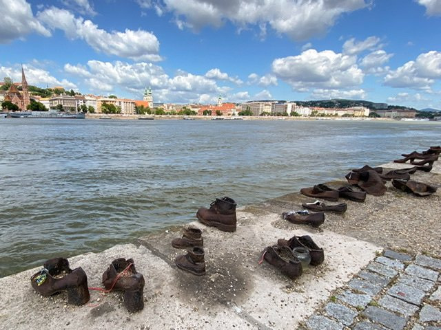 Part of the Shoes on the Danube memorial in Budapest