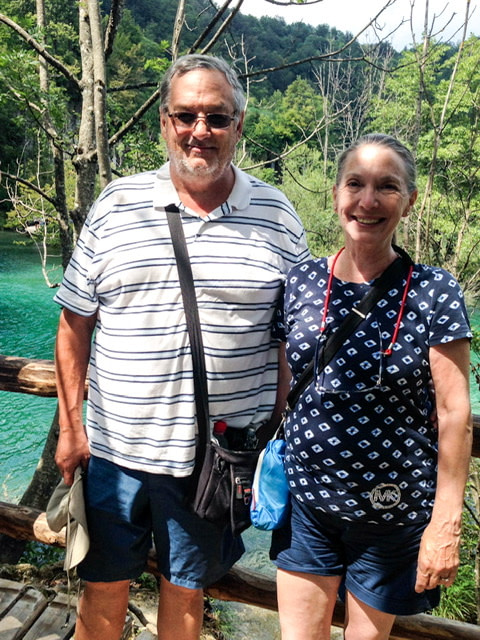 Steve and Linda at Plivites Lakes National Park