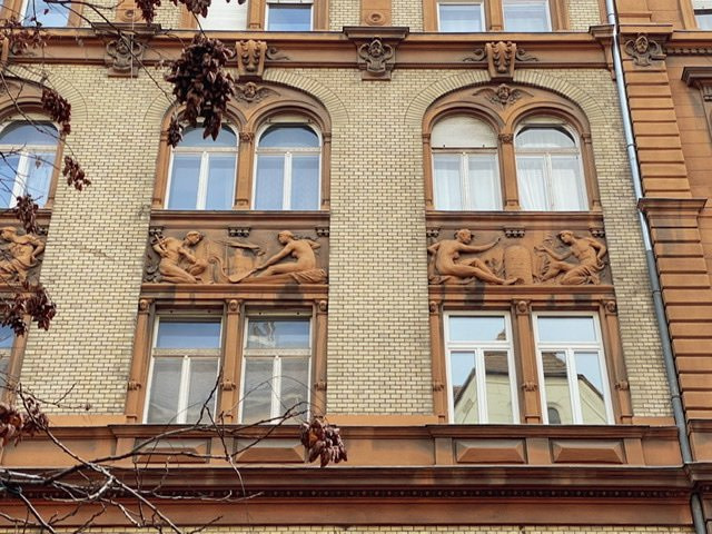 Reliefs on a building