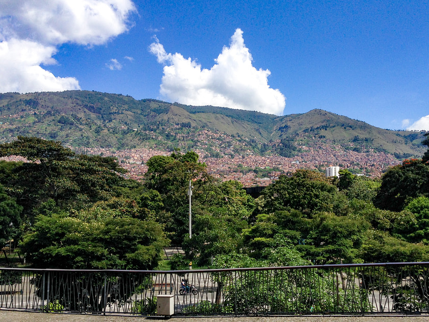View of mountains from Medellin