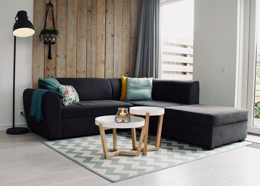 L-shaped sofa in a living room