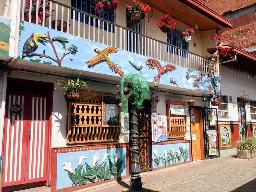 Colorful building in Guatape