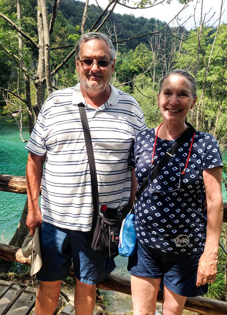 Steve and Linda at Plitvice Lakes National Park